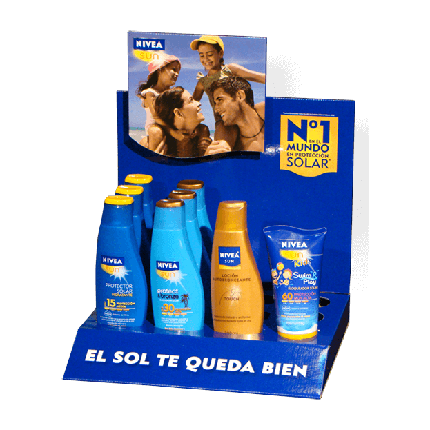 Display de mostrador NIVEA Sun 2010
