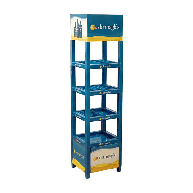 Floorstand Display Dermaglos Modulshelf